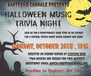 Flyer for music trivia night