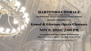 Ad for Grand and Glorious Opera Choruses, Nov. 9, 2020 on Zoom